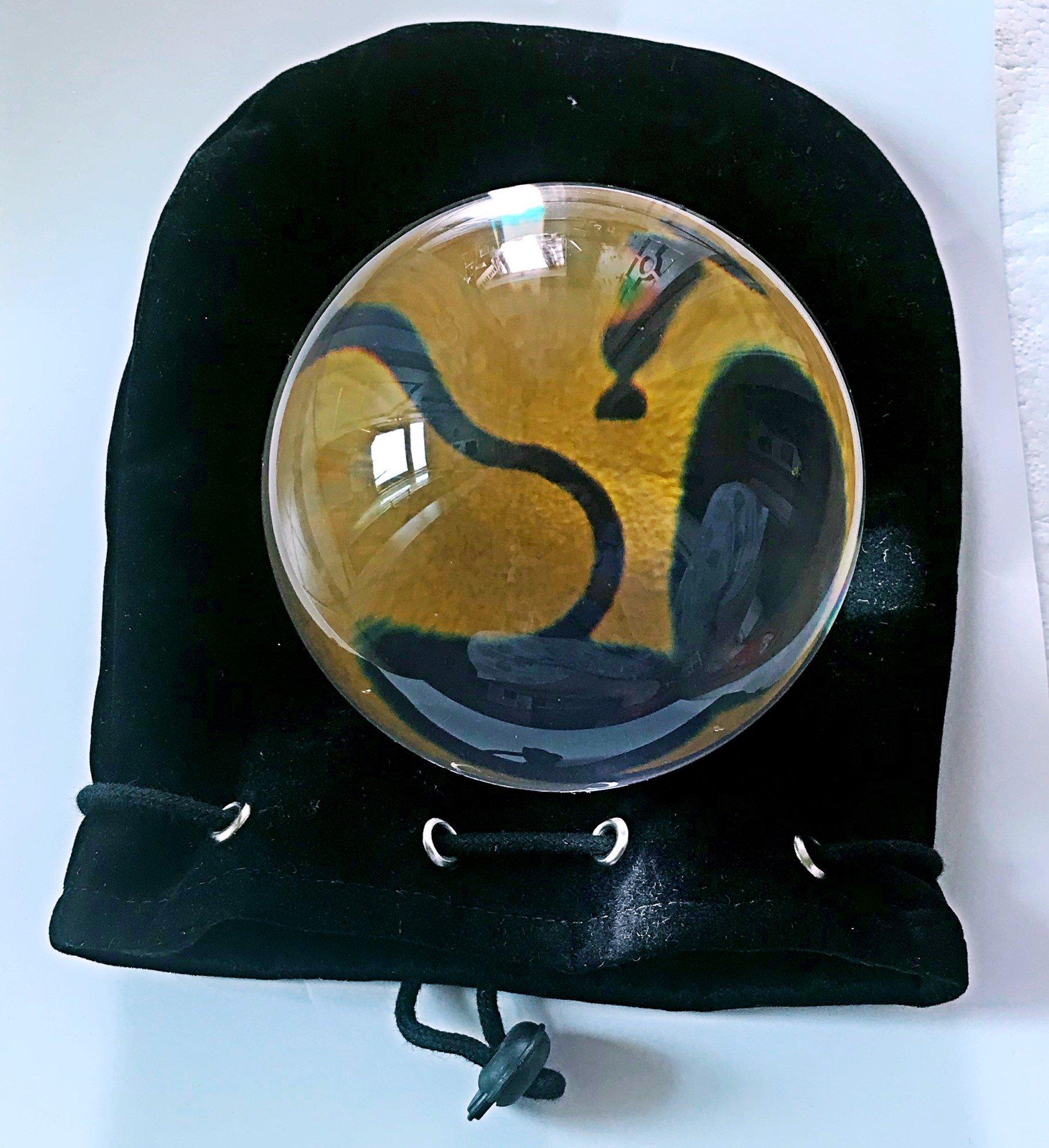 DSJUGGLING Clear UV Acrylic Contact Juggling Ball - 4'' - 100mm by DSJUGGLING (Image #3)
