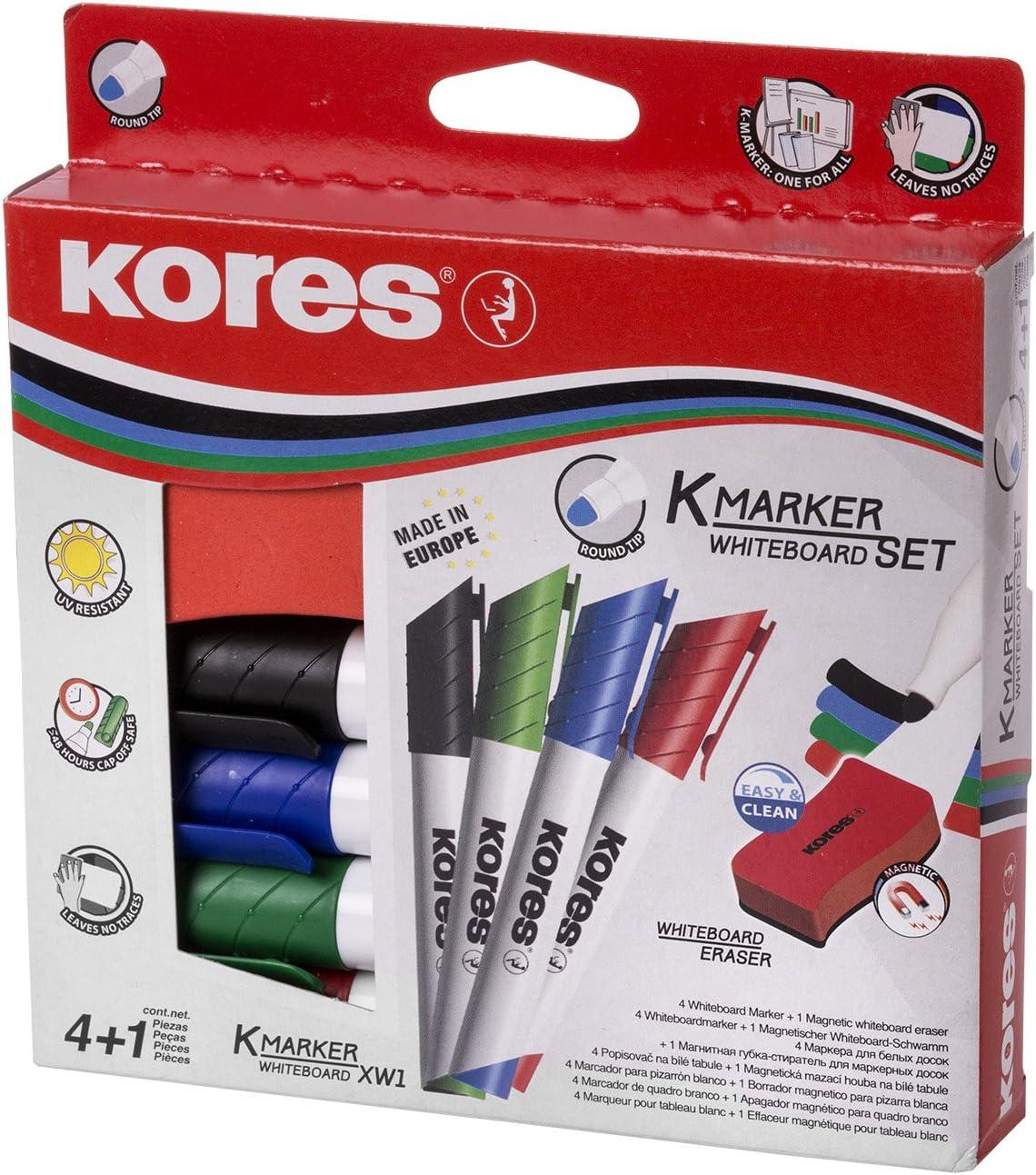 """blau Kores Whiteboard /& Flipchart-Marker /""""K MARKER/"""""""
