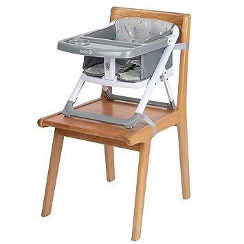 mit Tablett und Polsterung inklusive Hochstuhl Kinderhochstuhl Grau Safety 1st Take Eat Alza Kinderstuhl Sitzerh/öhung