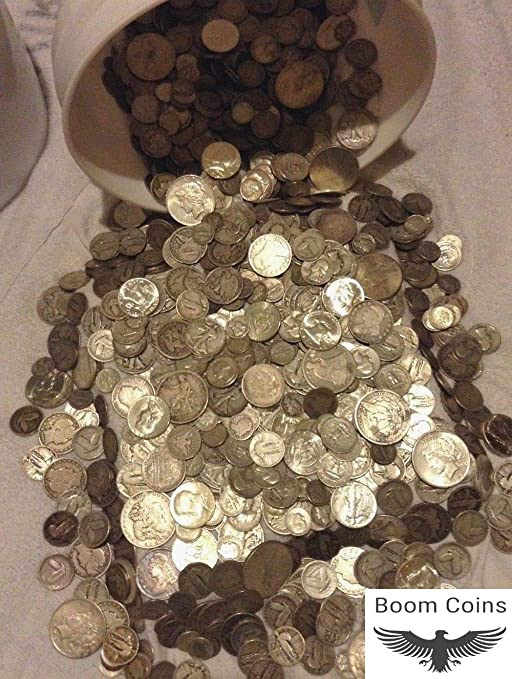 90/% SILVER HALF DOLLARS QUARTERS DIMES OUT OF CIRC MIX $4 FACE USA COINS LOT