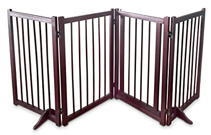 Dog Gate Pet Fence Barrier   Large 80u0026quot; W X 30u0026quot; H Portable  Collapsible