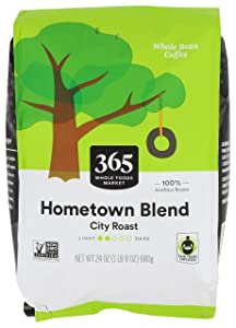 365 by Whole Foods Market, Whole Bean Coffee, City Roast, Hometown Blend, 24 Ounce