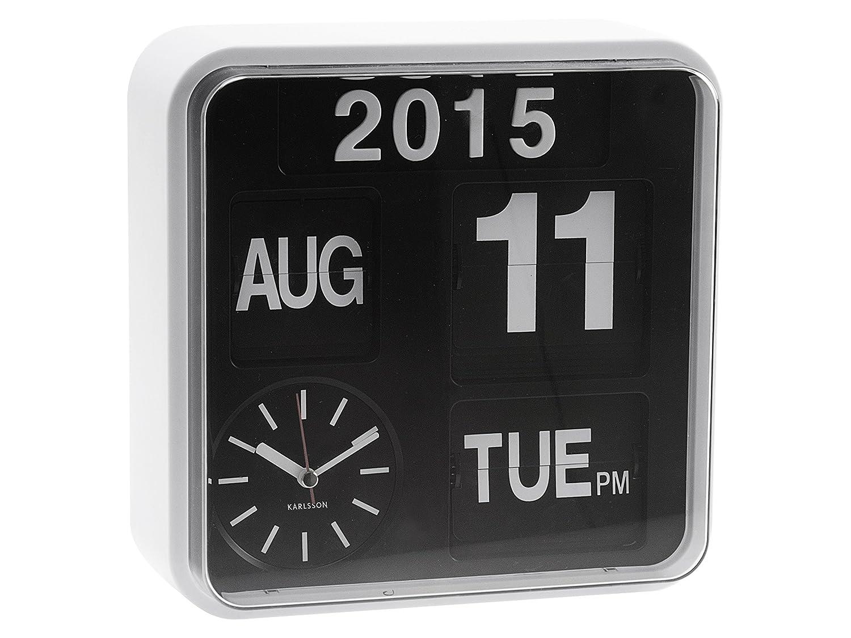 Amazon karlsson mini flip black dial casing wall clock white amazon karlsson mini flip black dial casing wall clock white home kitchen amipublicfo Choice Image
