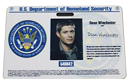Products Badge Id Dean com Cia Office Amazon Supernatural