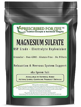 Magnesium Sulfate - Heptahydrate USP Grade - Epsom Salt Crystalline Granular, 10 kg