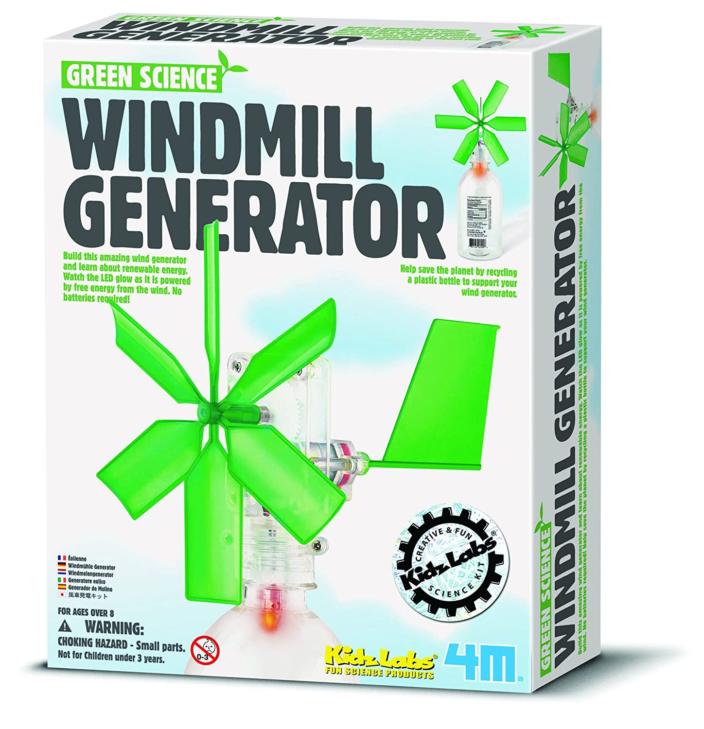 Amazon.com: Green Science Windmill Generator by Toysmith: Toys & Games