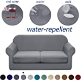 Granbest 3 Piece Premium Water-Repellent Couch Slipcover for 2 Cushion Couch Super Soft Loveseat Sofa Covers High…