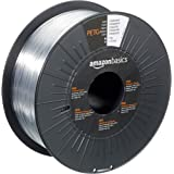 Amazon Basics PETG 3D Printer Filament, 1.75mm, Translucent, 1 kg Spool