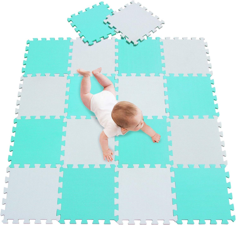 Alfombra Infantil Puzzle para Ni/ños Espuma Infantil Juego Alfombrillas 30x30cm Alfombra Puzle Protecci/ón para El Piso Amarillo Azul 0507 meiqicool Alfombra Puzzle Beb/é 18 Piezas