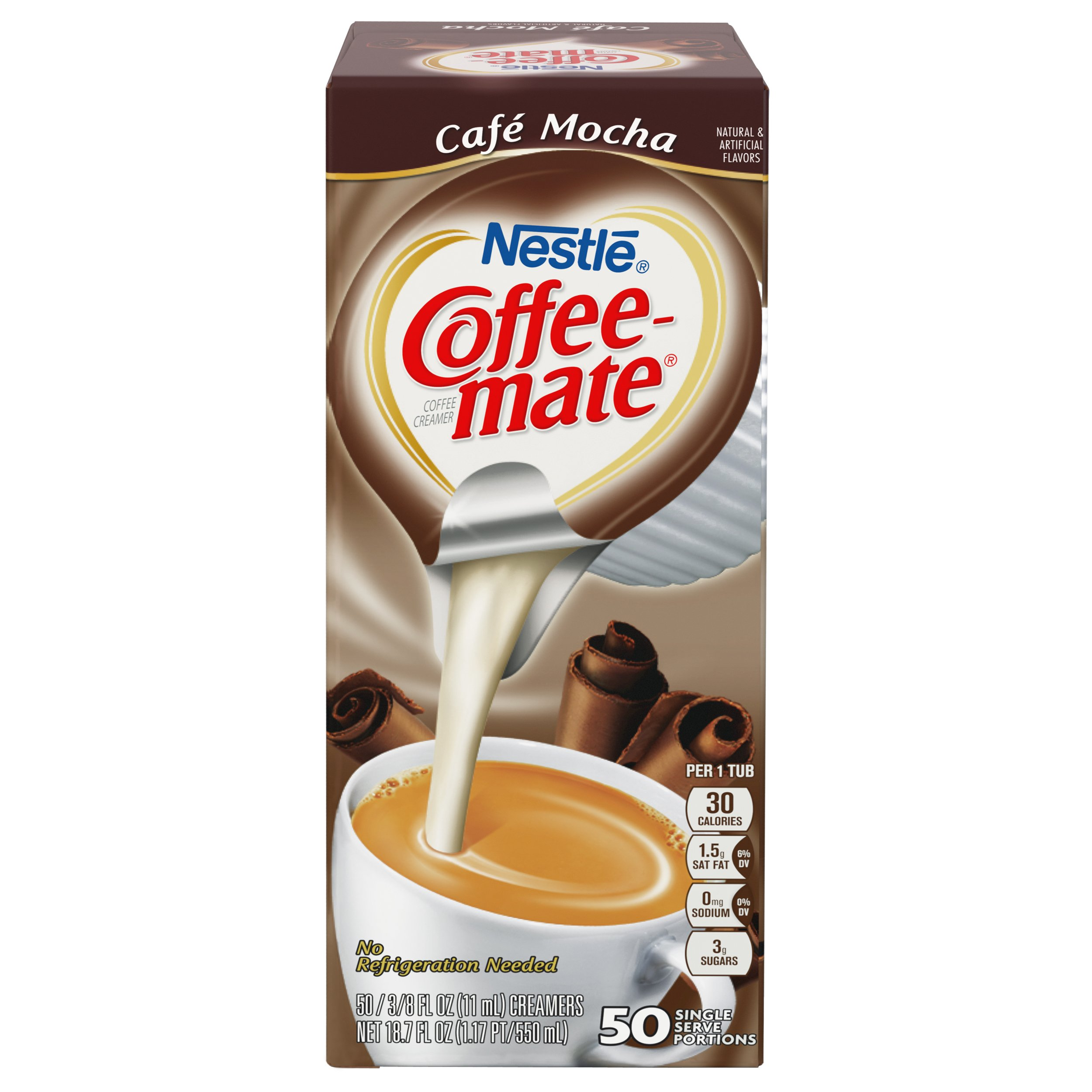 NESTLE COFFEE-MATE Coffee Creamer, Cafe Mocha, liquid creamer singles, 50 Count (Pack of 4) by Nestle Coffee Mate (Image #4)