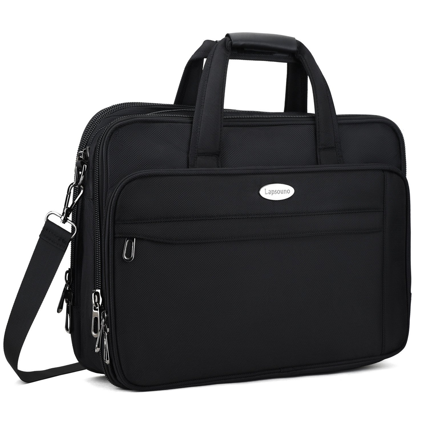 17 inch Laptop Bag, Expandable Large Briefcase for Men, Nylon Messenger Bags, Crossbody Travel Shoulder Bags for 17.3'' Laptop Notebook MacBook Ultrabook