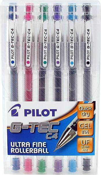 Imagen dePilot Pen G-Tec - Bolígrafos roller (6 unidades), varios colores