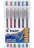 Pilot Pen G-Tec Pochette de 6 stylos rollers micro (Couleurs variées)