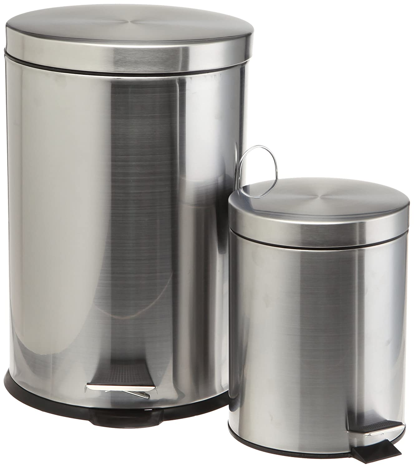 Amazon.com: Prime Pacific Pro Cook Stainless Steel Trash Cans, Set Of 2, 5  And 20 Liter: Home U0026 Kitchen