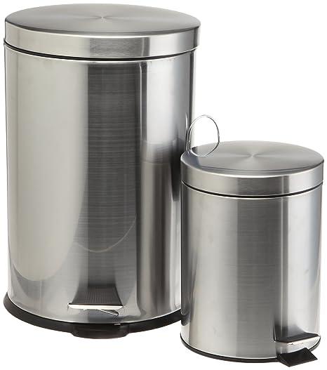 Amazon.com: Prime Pacific Pro Cook latas de basura de acero ...