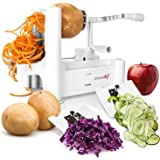 Simple Chef Vegetable Spiralizer - Vegetable Spiral Slicer - Includes Multiple Blades for Vegetable Noodles, Pasta, and Spaghetti
