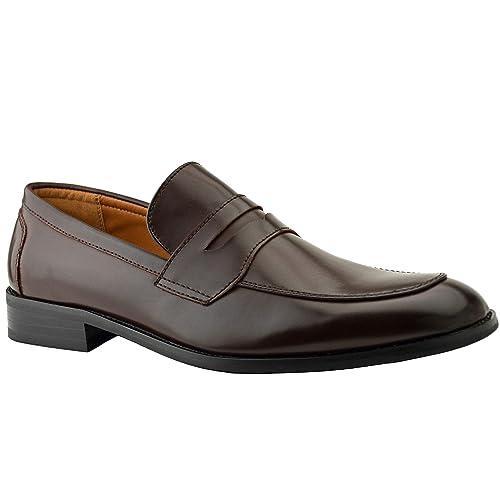 Zapatos de piel con hebilla de Robelli para hombre, estilo casual y formal, color marrón, tamaño 38,5, 40, 42, 42,5, 44 y 45