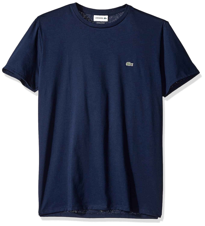 Lacoste スタンダード半袖ジャージー ピマ レギュラーフィット クルーネック Tシャツ、Th6709 – 51 B01M8L3U1V 7|ネイビーブルー ネイビーブルー 7