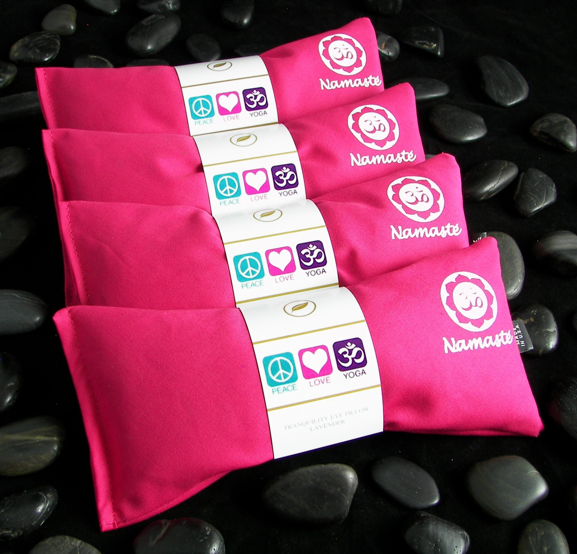 Namaste Yoga Lavender Eye Pillow - Pink - Set of 4