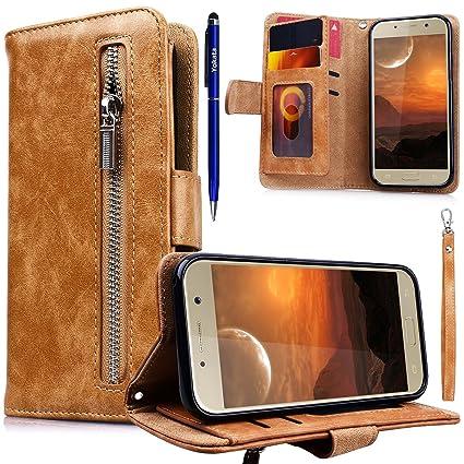 Yokata Kompatibel mit Samsung Galaxy A5 2017 Hülle Handyhülle Schutzhülle Leder PU Wallet Flip Case Lederhülle Klapphülle Kartenfach Standfunktion
