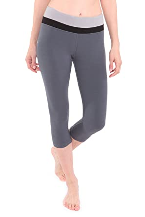Texere Women's Bamboo Yoga Capri Pants (Atalanta) Luxury Workout ...