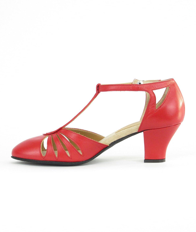 Damenschuhe Leder Abs. 5 0 cm cm cm Rot 36.5 EU 24d794