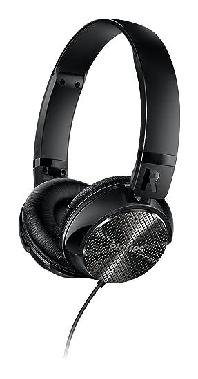 Philips SHB3850NC - Auriculares con reducción de ruido (altavoces de 32 mm, plegado compacto), negro