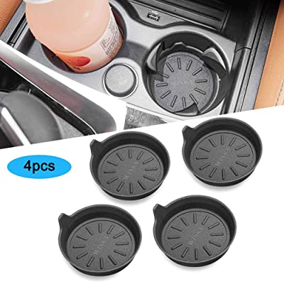WINKA Car Cup Holder Coasters, Silicone Coasters for Cup Holders, Universal Vehicle Cup Holder Coasters 4 pcs: Automotive
