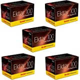 Kodak 35mm Ektar 100, ISO 100, Color Negative Film, 36 Exp. (5 Rolls per Pack)