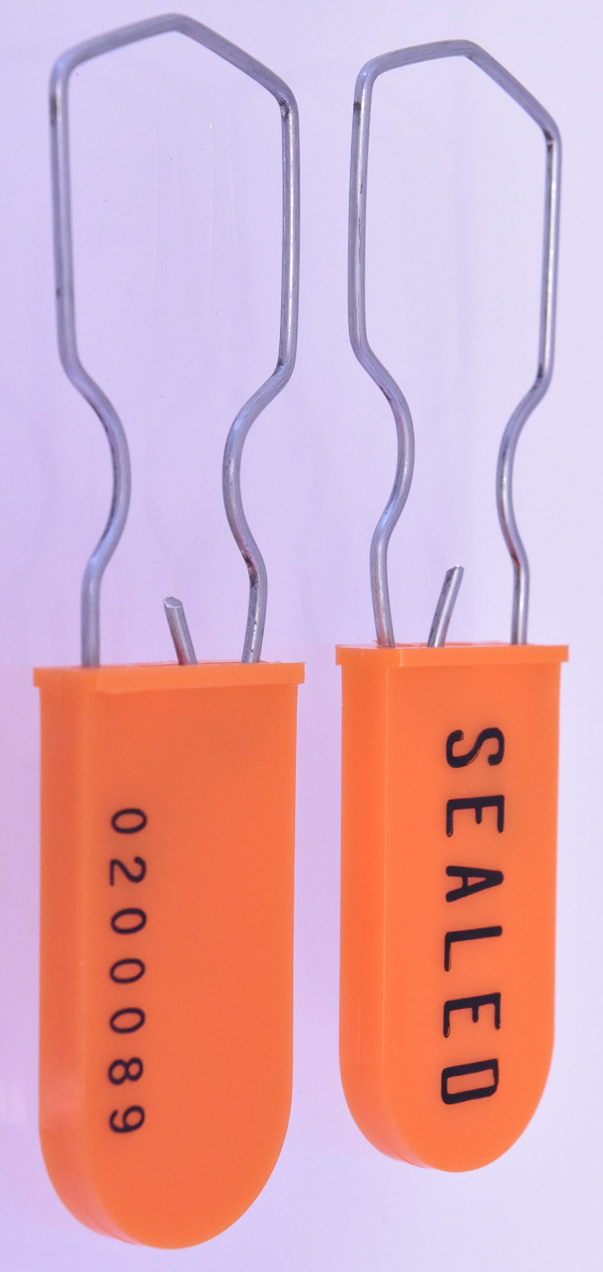 150 Pack Plastic Wire Padlock Security Seals (Orange)