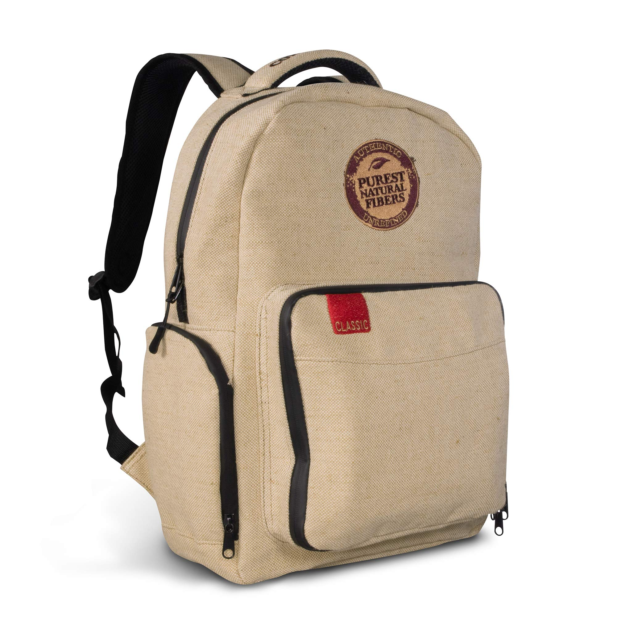 Rolling Papers x RAW Burlap Backpack - Smell Proof 6 Layer Design with Lockable Silicone Gasketed Double Zippers