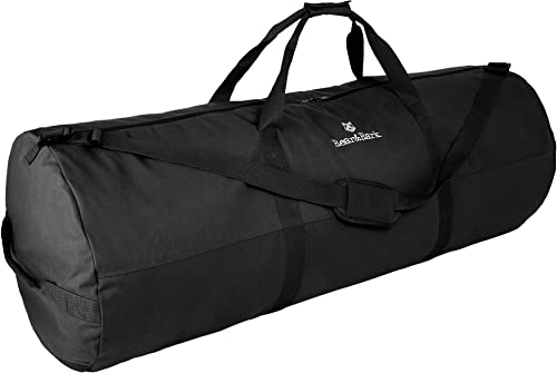 Extra Large Duffle Bag – Black 56 x22 – 348.8L – Canvas Military and Army Cargo Style Duffel Tote for Men and Women College Student, Backpacking, X-Large Travel and Storage Shoulder Bag