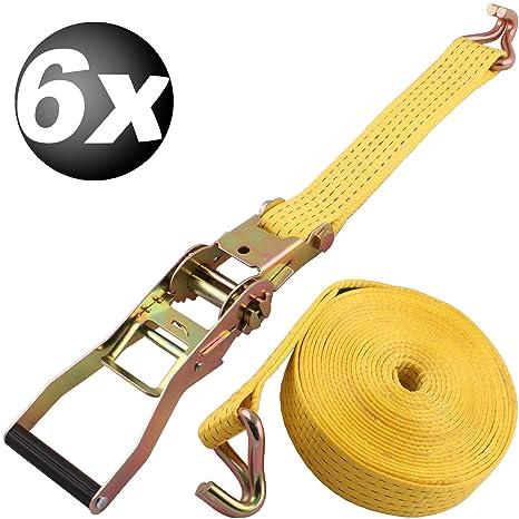 6 x correas de amarre de trinquete 5 x 800 cm 2 Teilig correa de trinquete