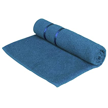 Story@Home 100% Cotton Soft Towel Single Piece, 450 GSM - 1 Girls Bath Towel - Navy Blue