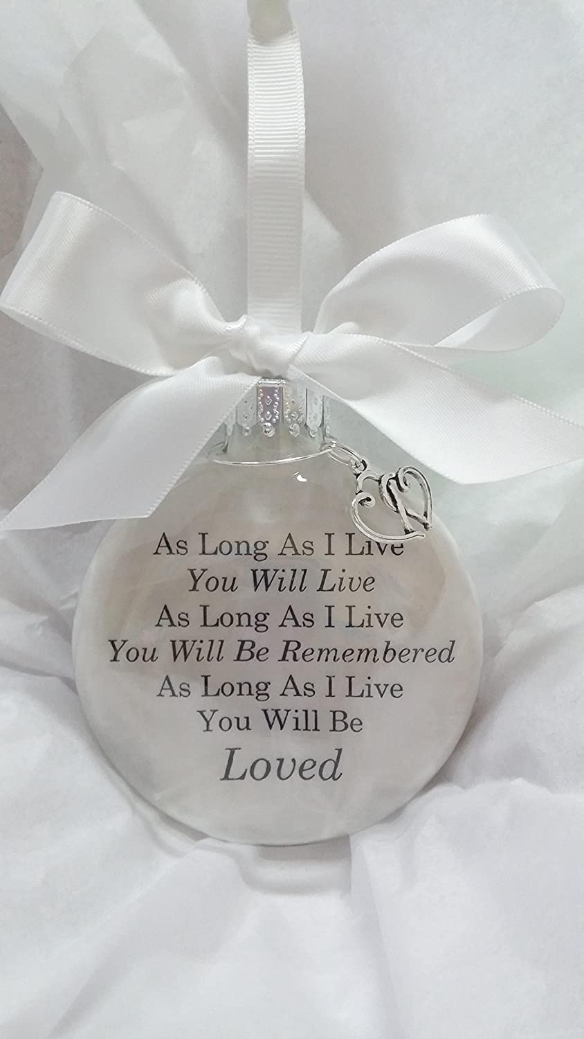 Amazon.com: Sympathy Gift Memorial Christmas Ornament - In Memory of ...