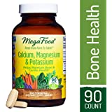 MegaFood - Calcium, Magnesium & Potassium, Supports Healthy Bones & Muscles, 90 Tablets (FFP)