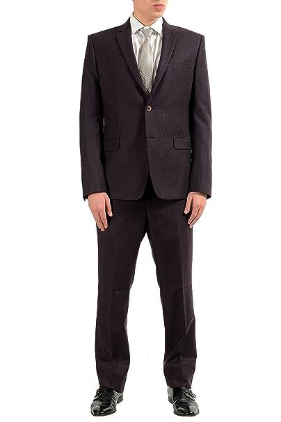 Amazon.com: Versace Collection hombre 100% de lana botón de ...