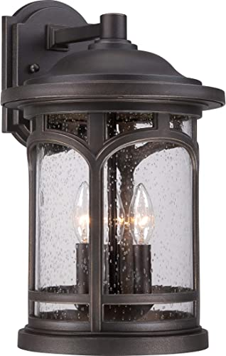 Quoizel MBH8411PN Marblehead Outdoor Wall Sconce, 3-Light, 180 Watts, Palladian Bronze 18 H x 11 W