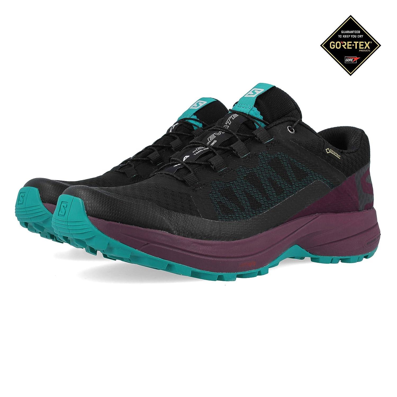 Salomon Women's XA Elevate GTX Trail Running Shoes BlackPotent PurpleTropical Green 9