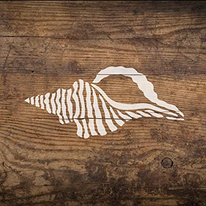 Seashell Nautical Stencil - Reusable Stencils for Walls - DIY Home Decor -  Trendy Easy DIY Wall Decor - by Cutting Edge Stencils (Small)