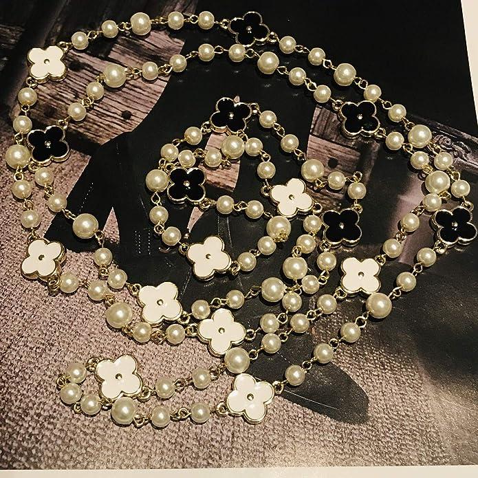Amazon.com: Fashion Jewelry MISASHA - Collar largo de perlas ...