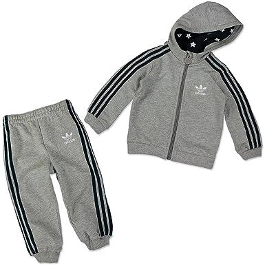 e7203327859b3 adidas Originals Kinder Trainingsanzug SUPER Star Baby Sport Anzug GRAU  BLAU, Größe:104,