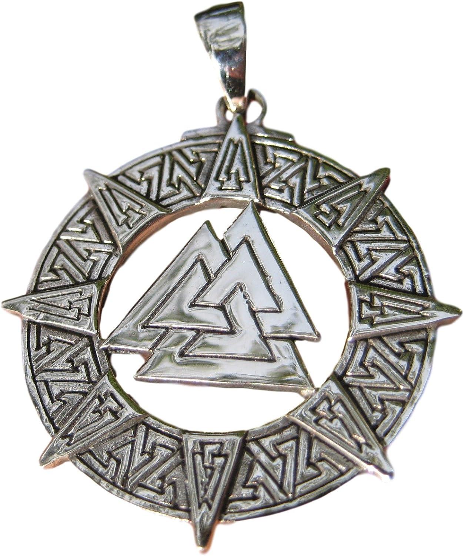 Viking Valknut Amulet 925 Silver Scandinavian Pendant Valknut Pendant Norse Mythology Jewelry Silver Viking Jewelry Valknut Jewelry