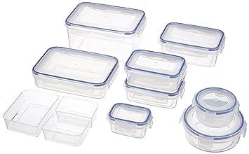 Tupperdosen Set emsa 505351 clip 9er set transparent