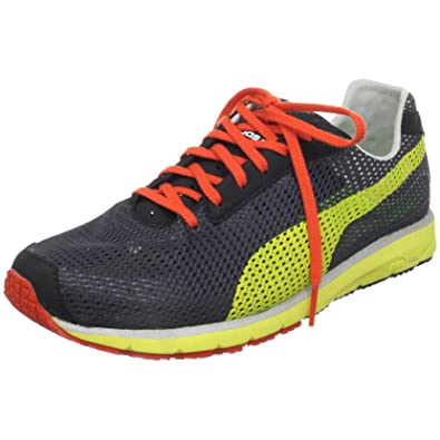 PUMA Faas 250 Running Shoe, Black/Team Charcoal/Fluo Yellow, 13 D