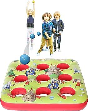 KreativeKraft Target Ball Juego Inflable para niños Fiesta Juegos de Verano al Aire Libre para Boy Girl 3 en una Fila Inflatables Jardín de Juguete: Amazon.es: Juguetes y juegos