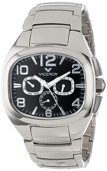Viceroy 47709-55 - Reloj de Pulsera Hombre, Acero Inoxidable, Color Plata: Amazon.es: Relojes