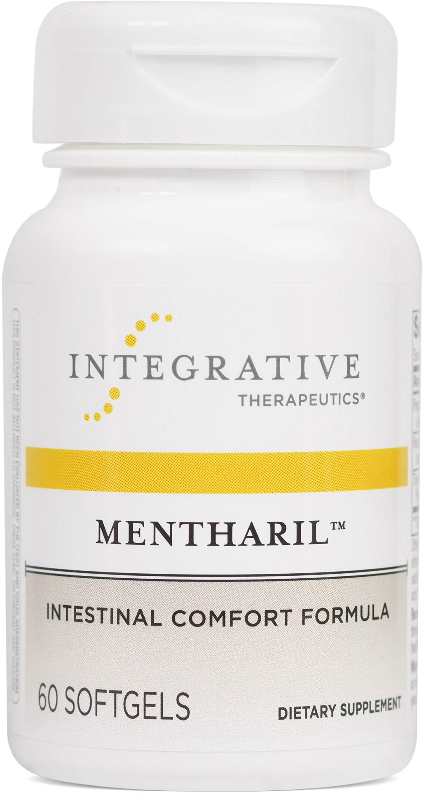 Integrative Therapeutics - Mentharil - Intestinal Comfort Formula with Peppermint, Rosemary, and Thyme Extracts - 60 Enteric-Coated Softgels