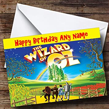Personalised The Wizard Of Oz Birthday Card Amazon Office