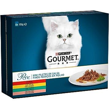 Purina Gourmet Perle Delicias en Salsa Surtido 10 x [8 x 85 g]: Amazon.es: Productos para mascotas